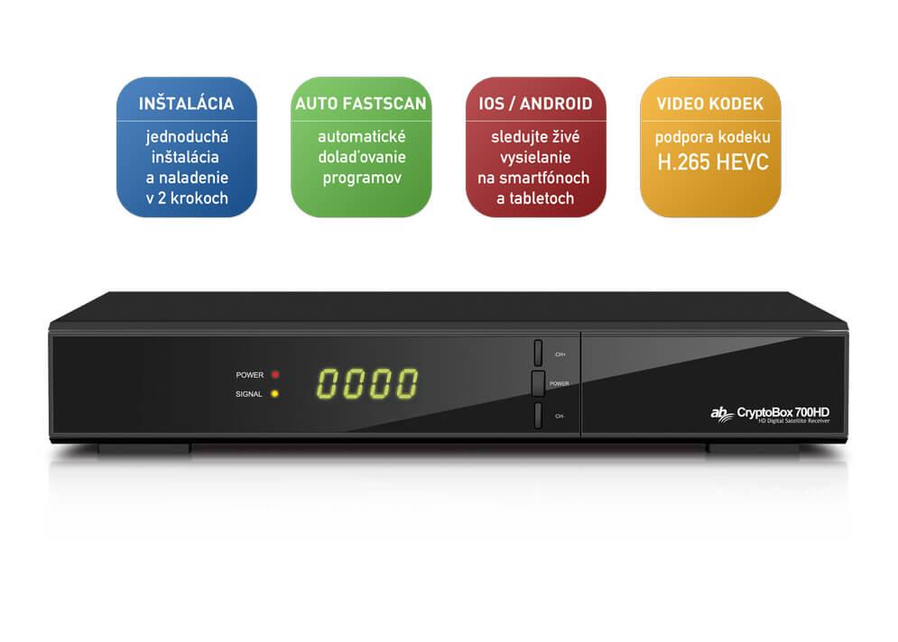 4980953de AB CryptoBox 700HD + HDMI kábel zdarma